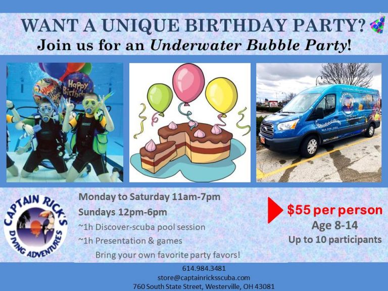Underwater bubble party